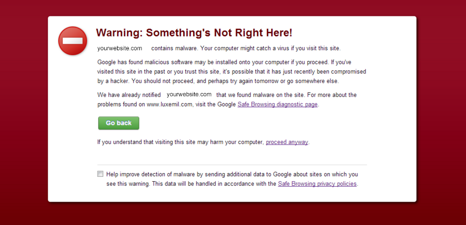 how to delete a website virus something's not right here
